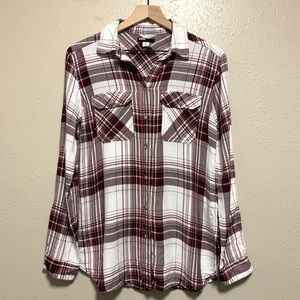 BDG Urban Outfitters plaid long sleeve shirt